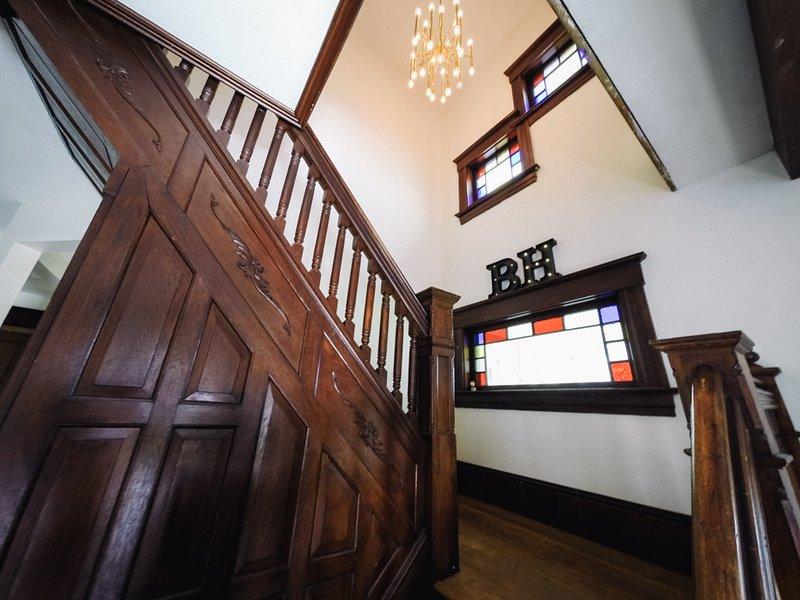 Original de 1880 talladas mano escalera principal