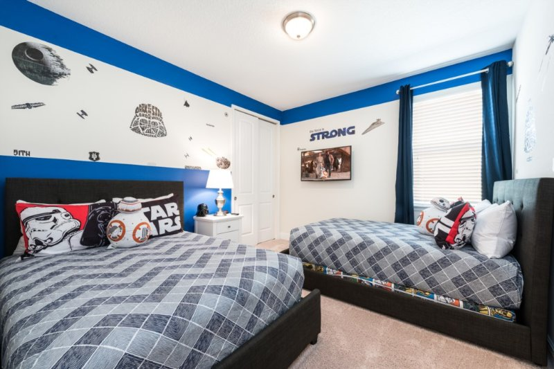 Dormitorio tema 5 Double Star Wars x2