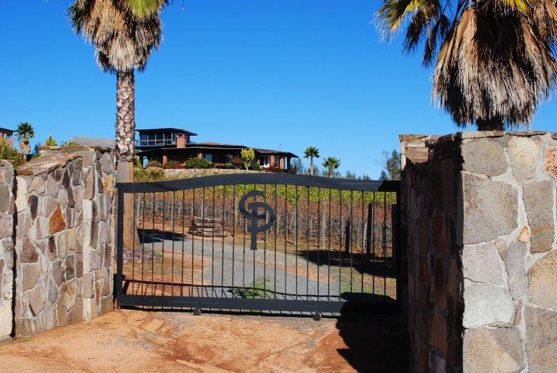 main entrance of the vineyard