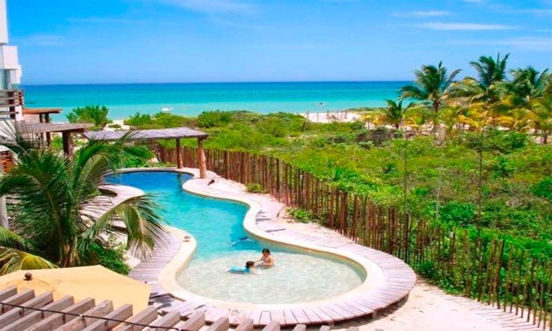 Exclusive and luxurious beach house,  Emerald coast Yucatan.