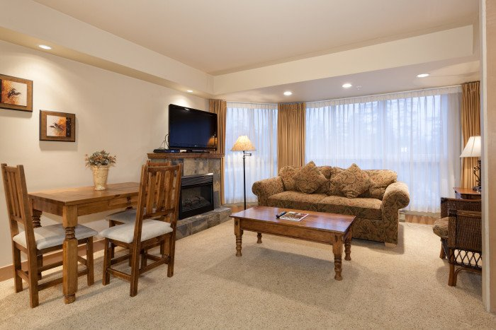 Sala de estar acogedora estándar típica