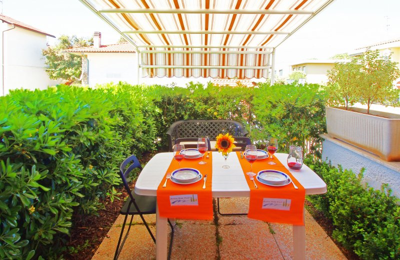 La terrasse de l'hébergement Sun