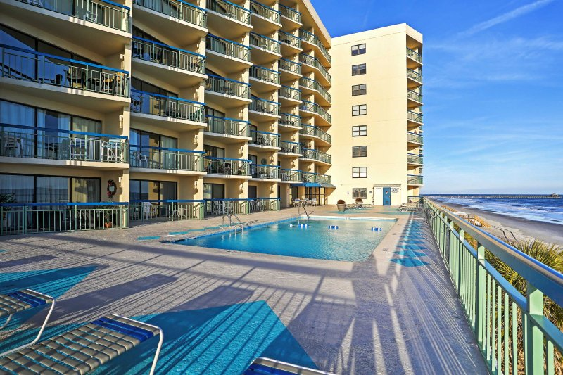 This Myrtle Beach vacation rental is right on the beach!