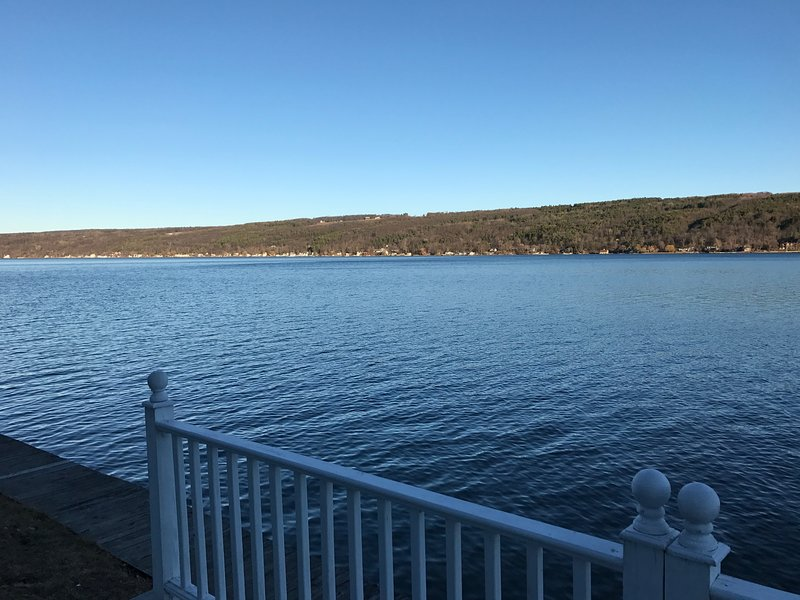 Beautiful panoramic views of pristine Keuka Lake
