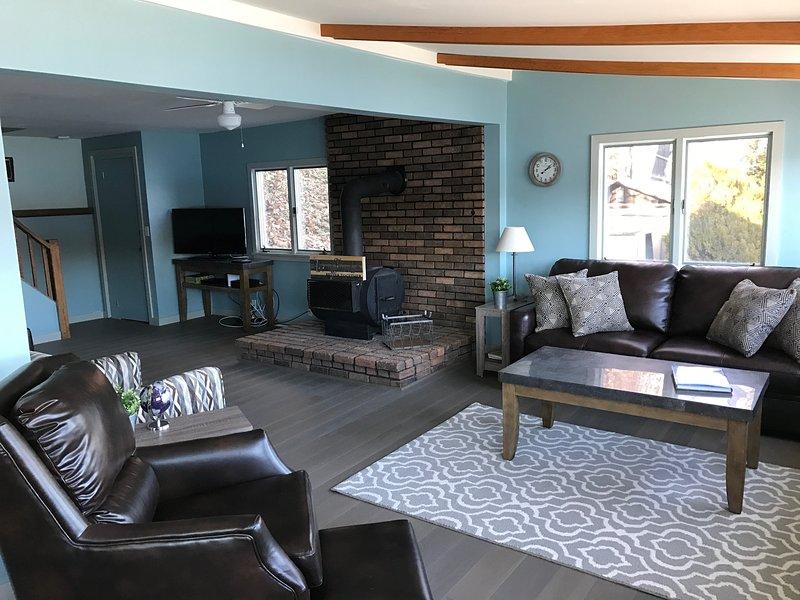 Wohnzimmer mit 180-Grad-Ansichten und viele bequeme Sitzgelegenheiten