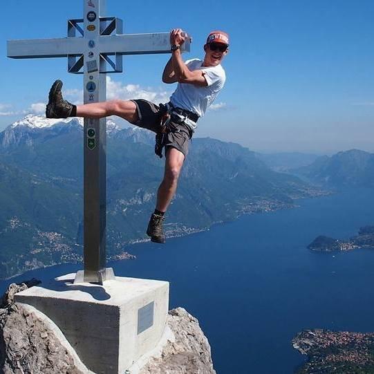 Climbing via Ferratas Menaggio.