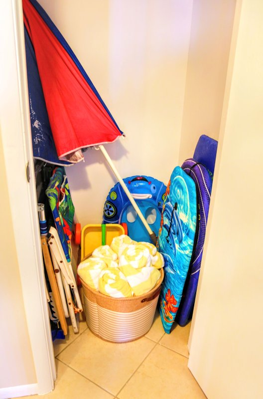 Beach towels, chairs, boogie boards, mat, umbrella, toys, cooler & more!
