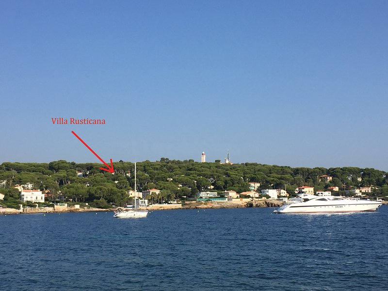 Location of the Villa Rusticana on the Cap d'Antibes