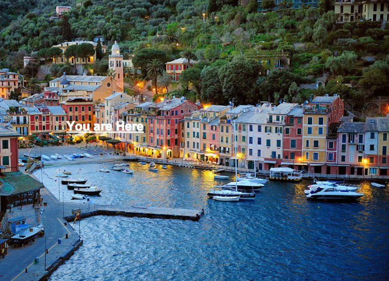 Romantic Portofino, one of the most exclusive place in the planet. Our house is in the middle here.
