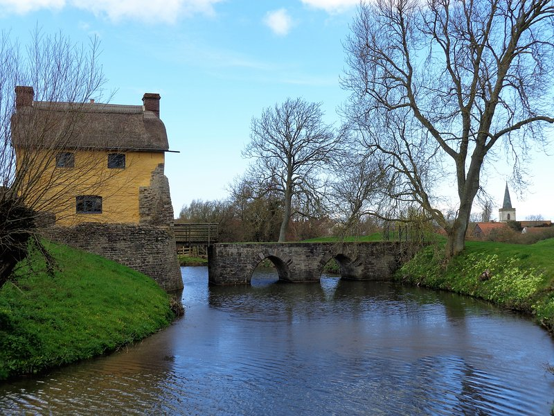 Castle & Moat Stogursey.