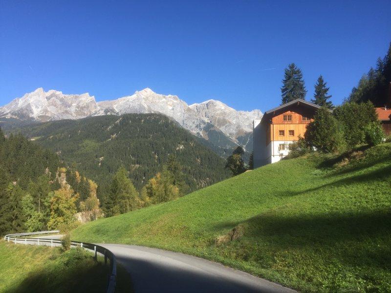 Mountain farm access road
