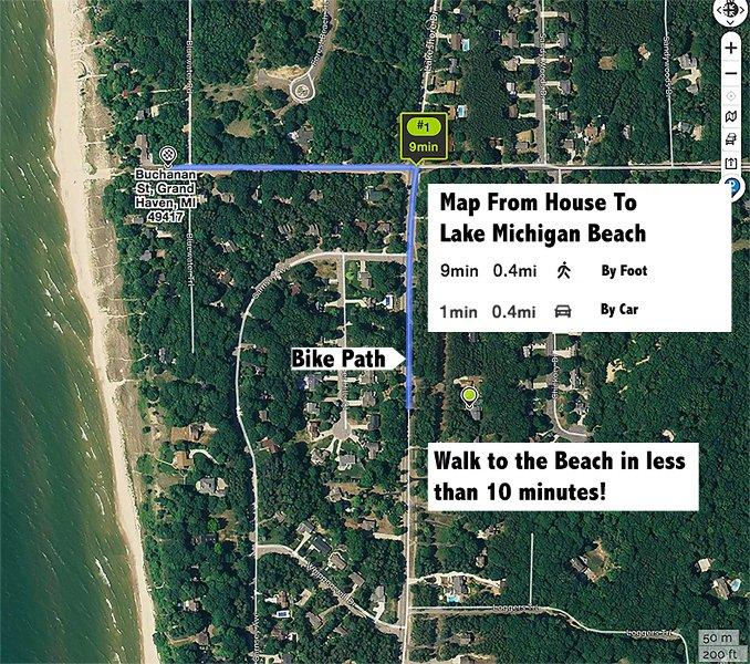 Mapa de la playa.
