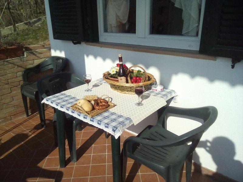 Conortable outdoor area / Colazione, cena o solo un po' di relax fuori ?