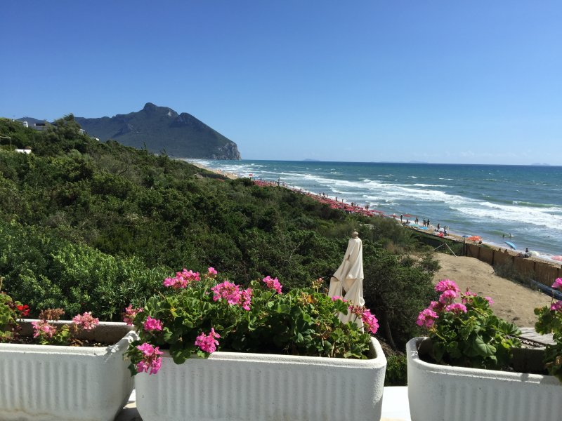 THE VIEW FROM THE PATIO OF THE HOUSE OF CIRCEO