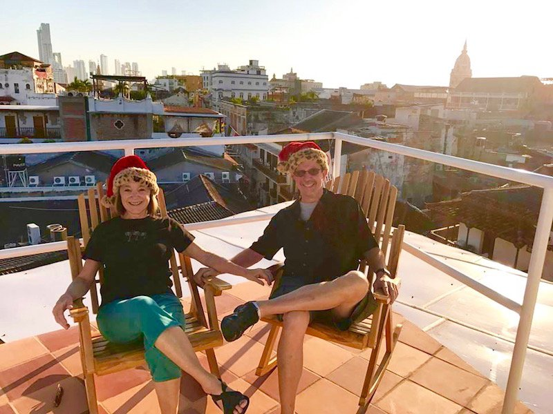 From the 'mirador' above the roof deck!