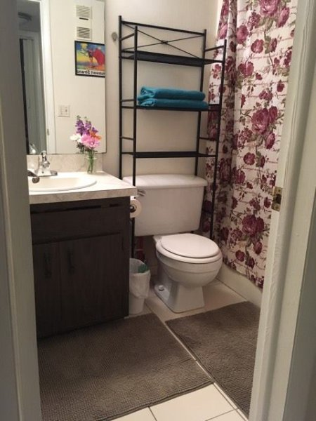 both bathrooms have shower and bath
