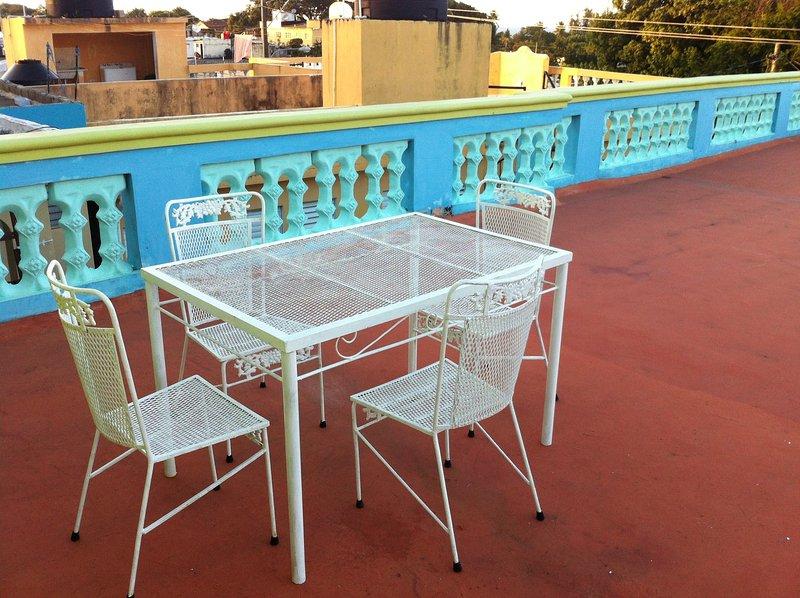 cenar en la terraza superior