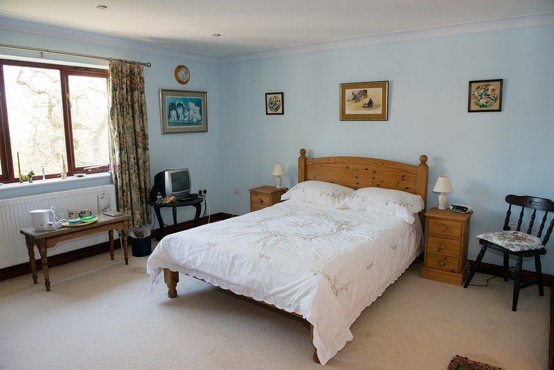 Light airy and spacious double room with en suite  - spa bath and walk in shower