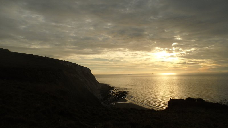 Sunrise on Boxing Day - from the Coastal Path just in front of Fossils Reach.