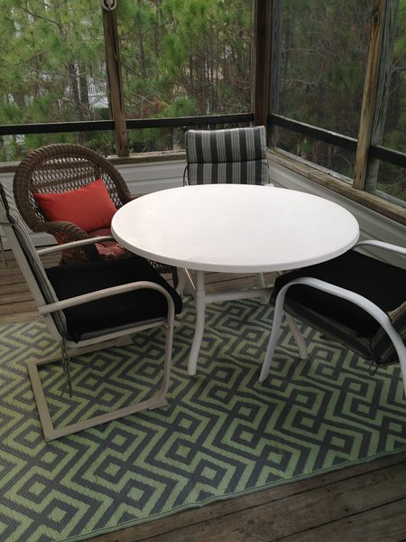 Screened Porch Is perfect For Evening Tea...