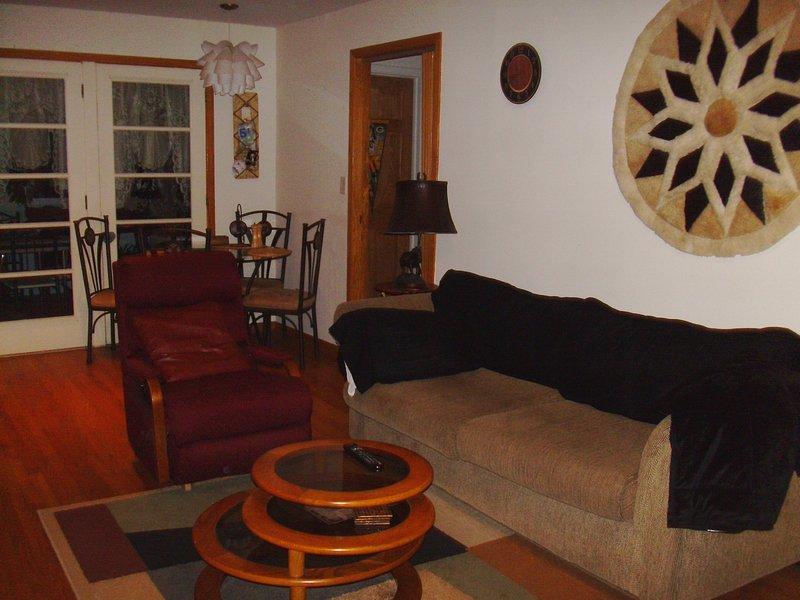 Wohn- / Essbereich und zusätzliche Gäste schlafen, wenn nötig