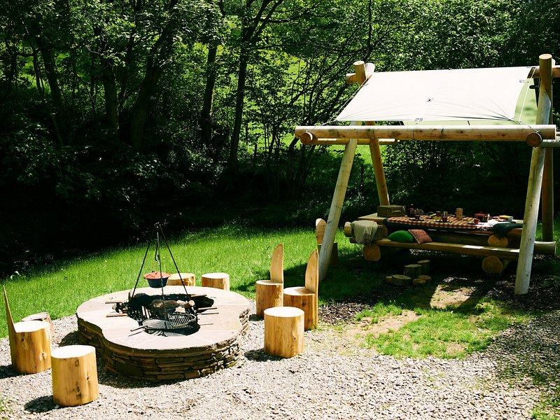 Outside cooking area