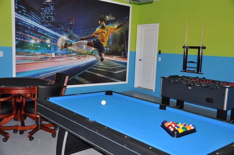 Beautiful game room right in the home!