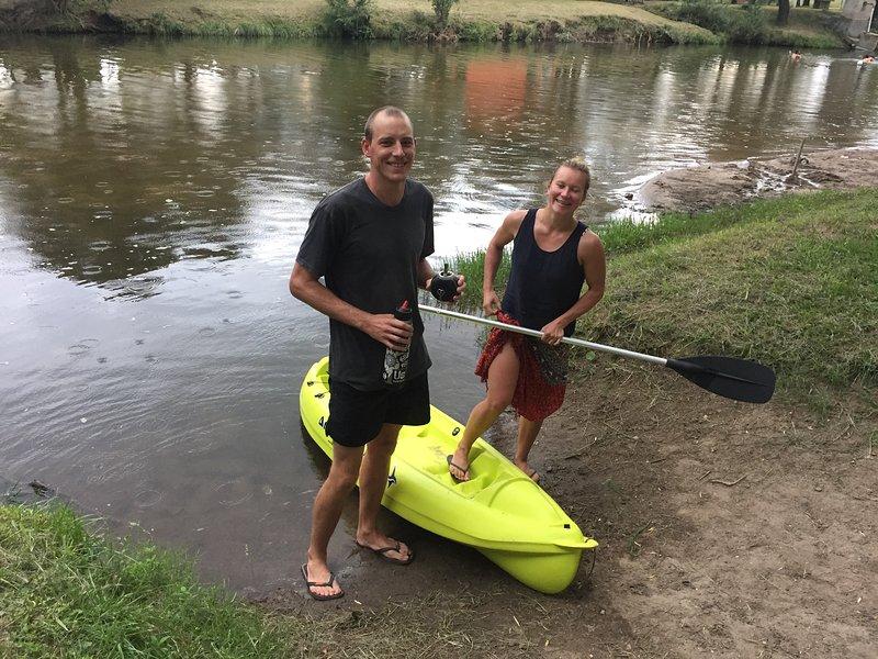 We Kayacks so you can enjoy the river or lake.