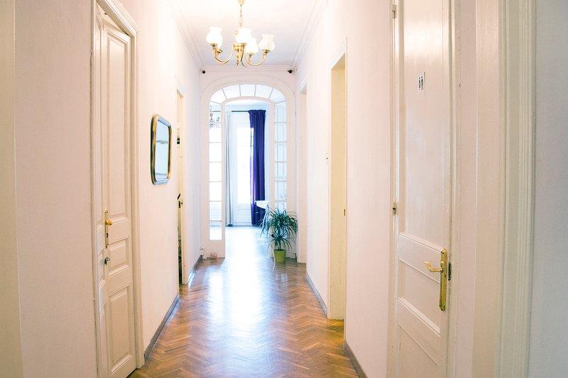 long couloir de la maison