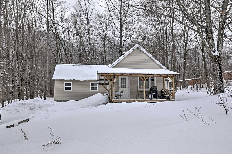 You'll love this Johnsburg Township vacation rental cottage in New York, which was once a historic schoolhouse.