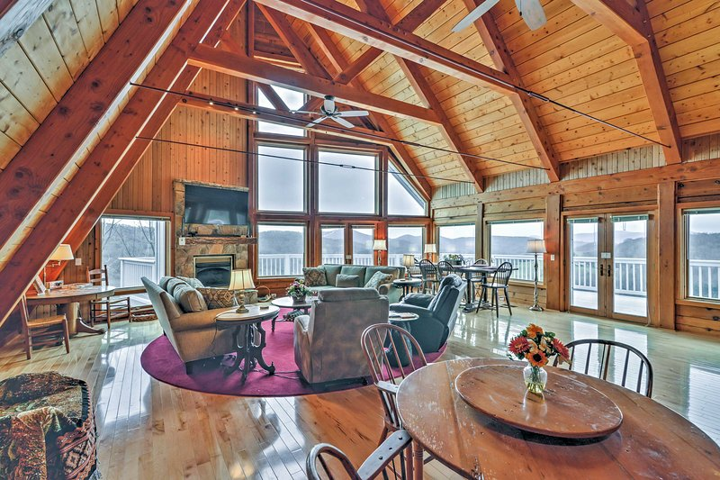 Escape to this 3-bedroom, 4-bathroom vacation rental house in Banner Elk.