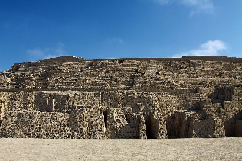 HUACA PUCLLANA, 20 minutes walking distance (1.9 km - 1.2 miles).  Ancient prehispanic city.  Inside