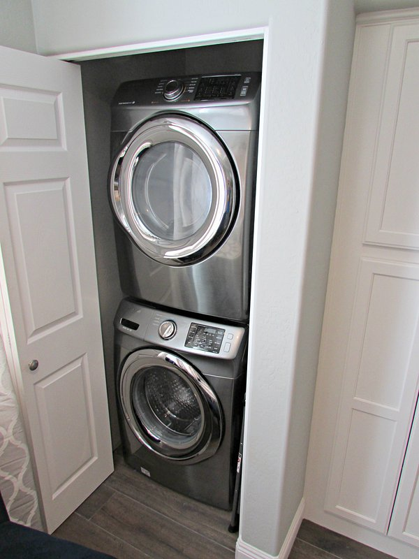 Brand new full size washer and dryer in the condo