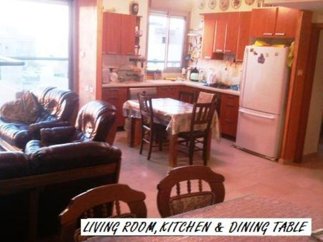 LIVING ROOM, KITCHEN, DINING TABLE