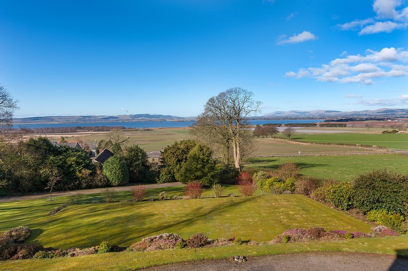 Looking across the gardens to Loch Leven