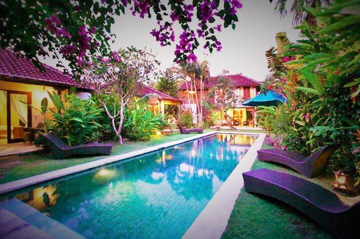 nice villa in tropical garden