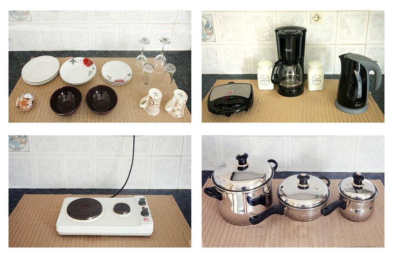 Sèche-cheveux, ustensiles de cuisine, les appareils électriques et beaucoup plus