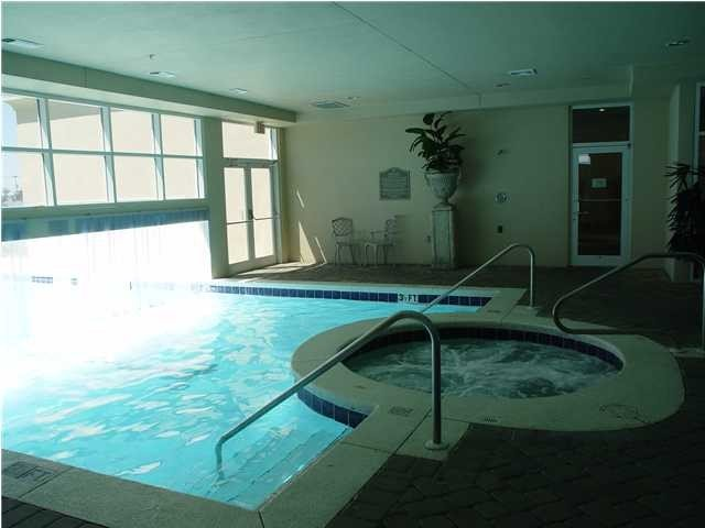 Heated Indoor/Outdoor Pool with Hot Tub