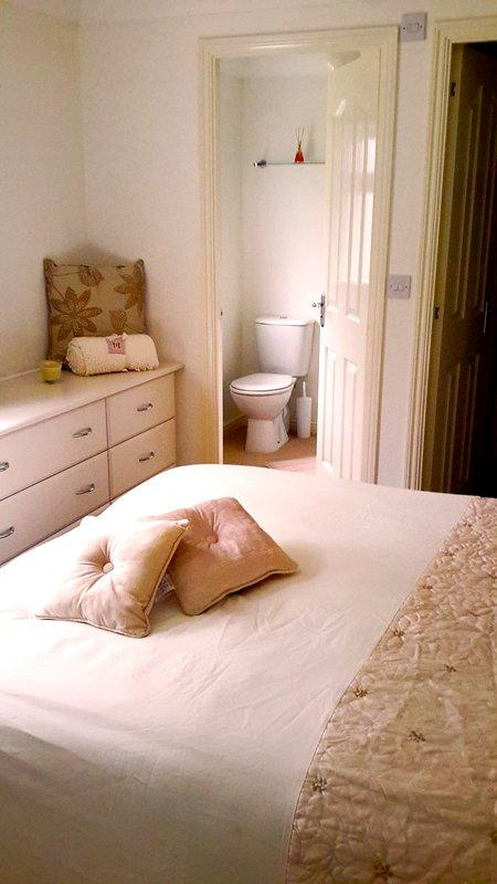 Luxe chambre principale avec salle de bains