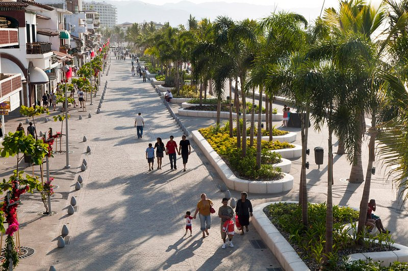 Malecón oceanfront boardwalk. Enjoy a multitude of restaurants and cantinas