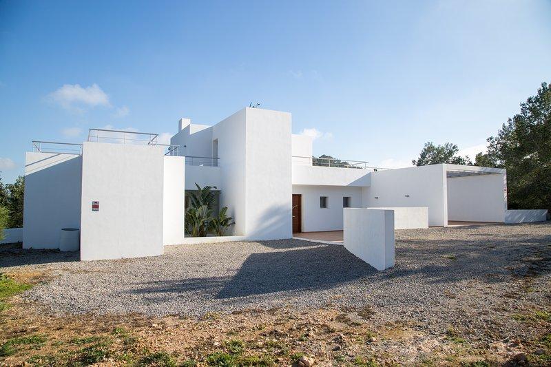 Villa  Es Puig Redó  (Es Cubells), aluguéis de temporada em Sant Josep