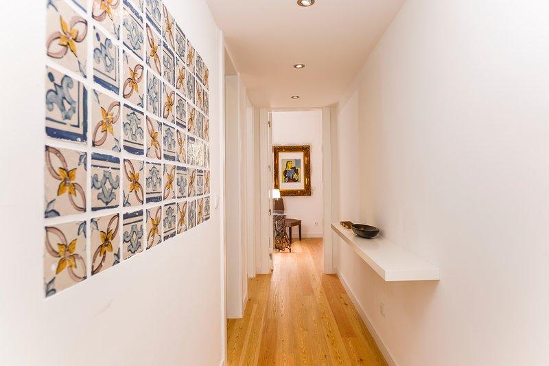 Corredor de acceso a la decoración de azulejos habitaciones-sec-XVIII