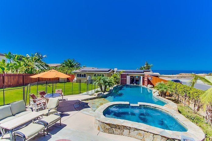 Full oceanfront pool and spa property with onsite parking