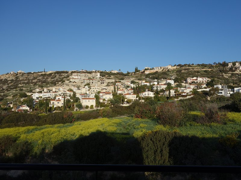 Partial view of Peyia from apartment veranda