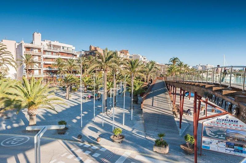 marina and shopping center in Pto. Alcudia