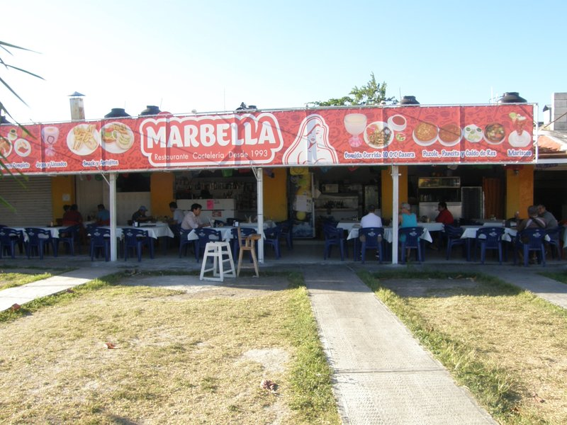 Marbella at the mercado. One of our favorite places to eat. Great selection.