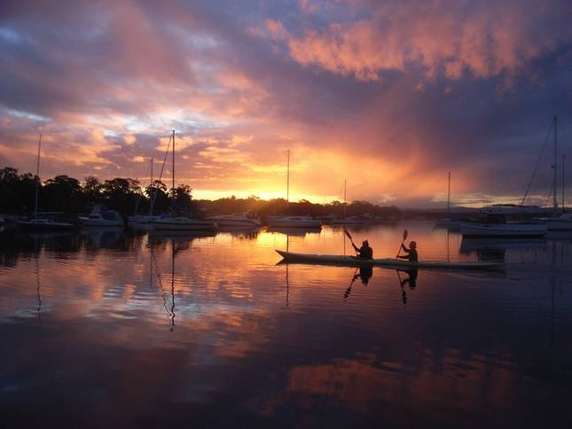 stunning magical sunsets where you can appreciate australian waterfront living