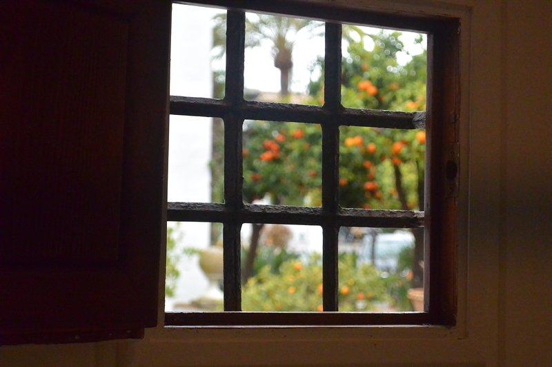 Pequeña ventana en la puerta de entrada