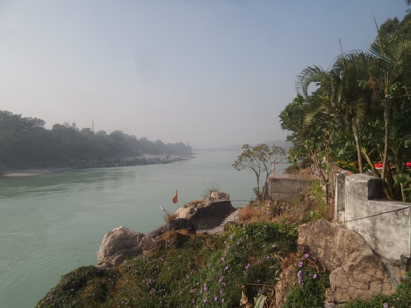 The view of  the ganges in Rishikesh