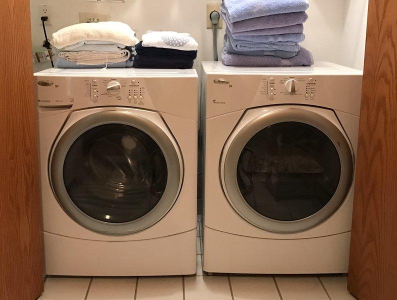 Lavadora secadora.